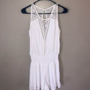 Abercrombie and Fitch White Romper